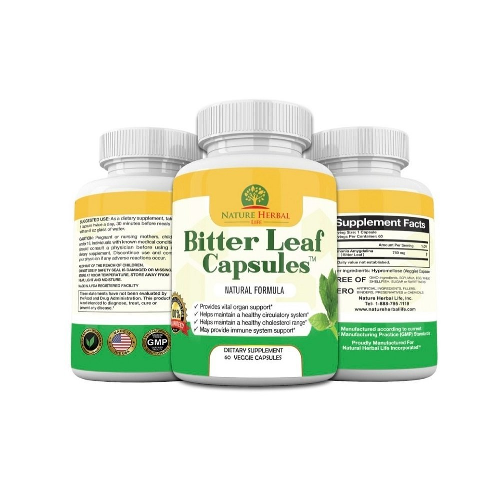 3 bottles of bitter leaf capsules pic