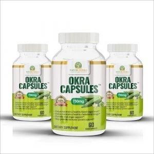 Okra Capsules Bottles